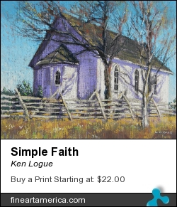 Simple Faith by Ken Logue - Painting - Pastel On Board
