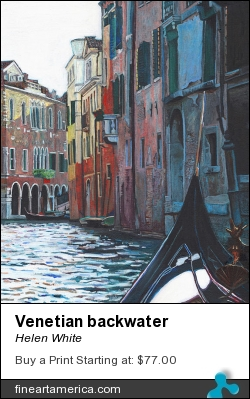 Venetian Backwater by Helen White - Painting - Oil On Canvas