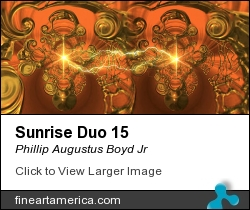 Sunrise Duo 15 by Phillip Augustus Boyd Jr - Painting - Giclee`