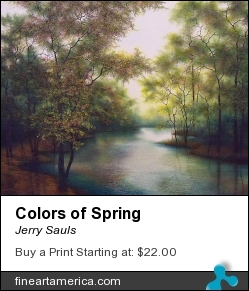 Colors Of Spring by Jerry Sauls - Painting - Oil On Canvas