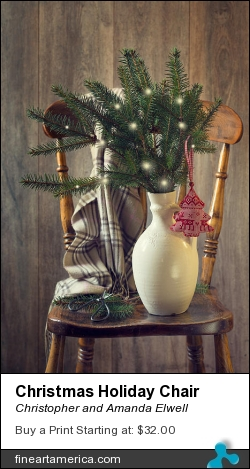 Christmas Holiday Chair by Christopher and Amanda Elwell - Photograph - Photograph