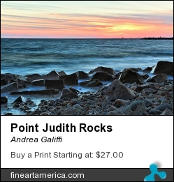 Point Judith Rocks by Andrea Galiffi - Photograph