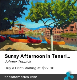 Sunny Afternoon In Tenerife by Johnny Trippick - Painting - Oil