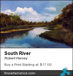 South River by Robert Harvey - Painting - Acrylic On Wood