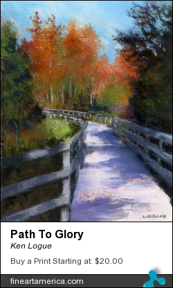 Path To Glory by Ken Logue - Painting - Pastel On Board