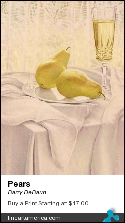 Pears by Barry DeBaun - Painting - Watercolor
