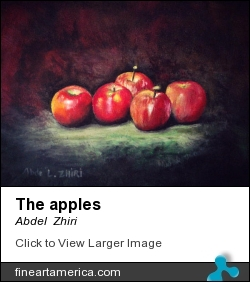 The Apples by Abdel  Zhiri - Painting - Pastel On Paper