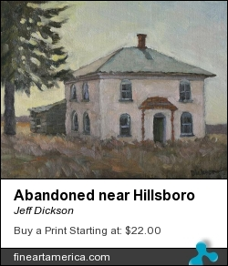 Abandoned Near Hillsboro by Jeff Dickson - Painting - Oil On Linen
