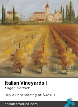Italian Vineyards I by Logan Gerlock - Painting - Oil On Canvas
