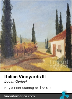 Italian Vineyards IIi by Logan Gerlock - Painting - Oil On Canvas