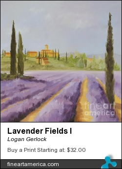 Lavender Fields I by Logan Gerlock - Painting - Oil On Canvas