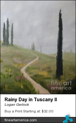 Rainy Day In Tuscany II by Logan Gerlock - Painting - Oil On Canvas