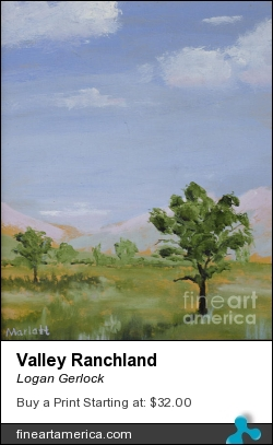 Valley Ranchland by Logan Gerlock - Painting - Oil On Board