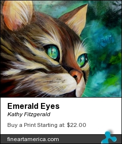 Emerald Eyes by Kathy Fitzgerald - Painting - Acrylic On Canvas