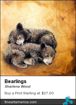 Bearlings by Sharlena Wood - Drawing - Charcoal On Panel