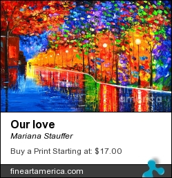 Our Love by Mariana Stauffer - Painting - Original Painting