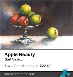 Apple Beauty by Gail Heffron - Painting - Watercolor