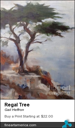 Regal Tree by Gail Heffron - Painting