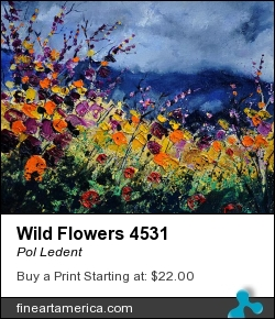 Wild Flowers 4531 by Pol Ledent - Painting - Oil On Canvas