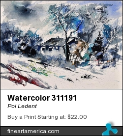 Watercolor 311191 by Pol Ledent - Painting - Watercolor