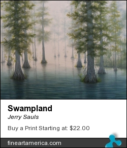 Swampland by Jerry Sauls - Painting - Oil On Canvas