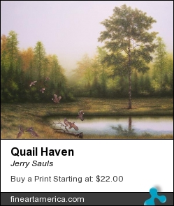 Quail Haven by Jerry Sauls - Painting - Oil On Canvas
