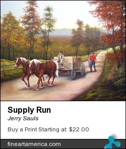 Supply Run by Jerry Sauls - Painting - Oil On Canvas