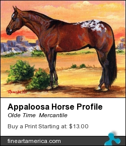 Appaloosa Horse Profile by Olde Time  Mercantile - Painting - Acrylic