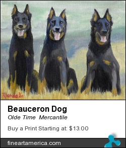 Beauceron Dog by Olde Time  Mercantile - Painting - Acrylic