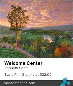 Welcome Center by Kenneth Cobb - Painting - Oil On Canvas