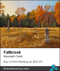 Fallbrook by Kenneth Cobb - Painting - Oil On Canvas