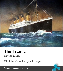 The Titanic by Sumit  Datta - Painting - Watercolor
