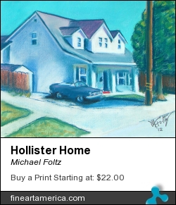 Hollister Home by Michael Foltz - Painting - Pastel On Paper