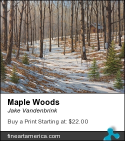 Maple Woods by Jake Vandenbrink - Painting - Acrylic