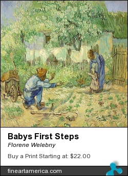 Babys First Steps by Florene Welebny - Painting - Photo Of Painting