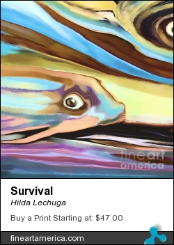 Survival by Hilda Lechuga - Painting - Painting