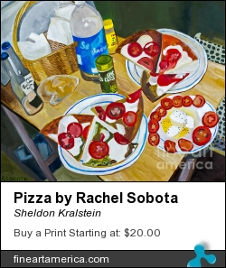 Pizza By Rachel Sobota by Sheldon Kralstein - Painting - Photograph Of Oil On Canvas
