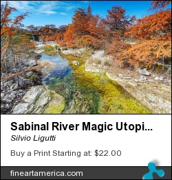 Sabinal River Magic Utopia Texas Hill Country by Silvio Ligutti - Photograph - Photography