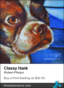 Classy Hank by Robert Phelps - Painting - Oil On Canvas