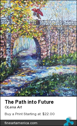 The Path Into Future by OLena Art - Painting - Oil