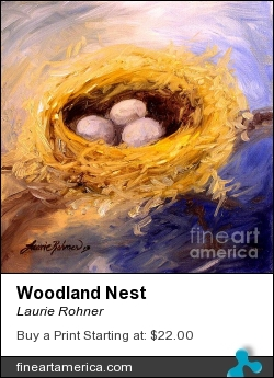 Woodland Nest by Laurie Rohner - Painting - Oil On Canvas