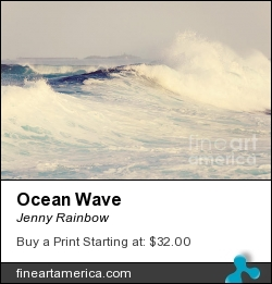 Ocean Wave by Jenny Rainbow - Photograph - Photography
