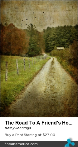 The Road To A Friend's House by Kathy Jennings - Photograph - Photograph