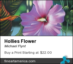 Hollies Flower by Michael Flynt - Painting - Oil On Canvas