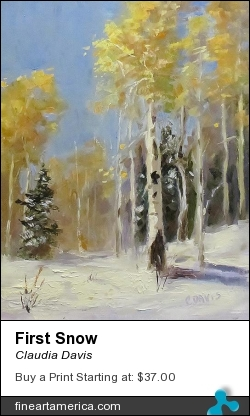 First Snow by Claudia Davis - Painting - Oil On Canvas