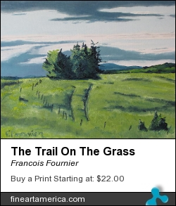 The Trail On The Grass by Francois Fournier - Painting - Oil Painting