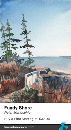 Fundy Shore by Peter Martocchio - Painting - Watercolor