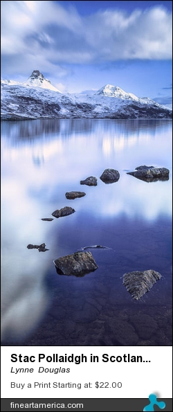 Stac Pollaidgh In Scotland by Lynne  Douglas - Photograph - Giclee Print