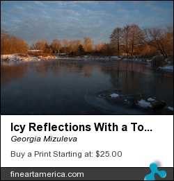 Icy Reflections With A Touch Of Snow by Georgia Mizuleva - Photograph - Fine Art Photograph
