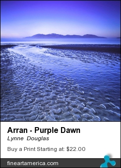 Arran - Purple Dawn by Lynne  Douglas - Photograph - Giclee Print